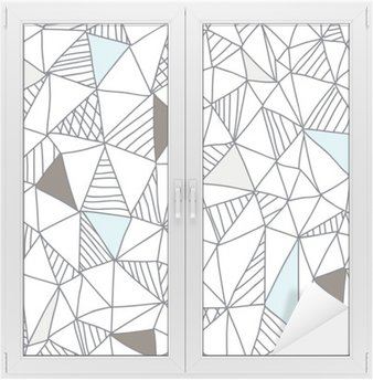 Sticker pour Vitres et Fenêtres Abstract seamless pattern doodle