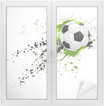 Sticker pour Vitres et Fenêtres Ballon de football en vol