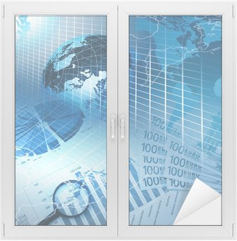 Sticker pour Vitres et Fenêtres Cartes d'affaires et des graphiques