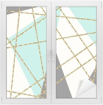 Sticker Vitre Composition géométrique abstraite
