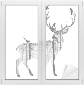 Sticker Vitre deer