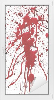 Sticker Vitre Éclaboussures sanglantes