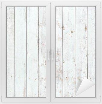 Sticker pour Vitres et Fenêtres Fond noir et blanc de la planche en bois