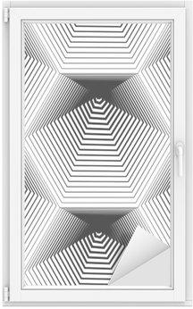 Sticker Vitre Géométrique monochrome stripy seamless, noir et blanc ve