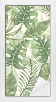 Sticker pour Vitres et Fenêtres Leaves pattern