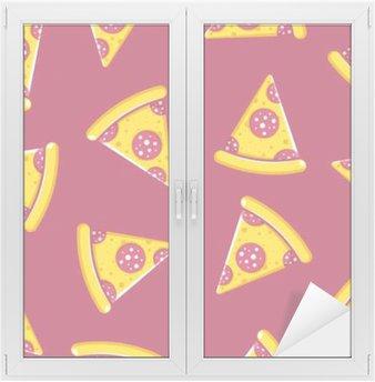 Sticker pour Vitres et Fenêtres Motif temps Pizza
