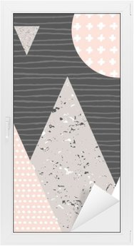 Sticker Vitre Paysage abstrait géométrique