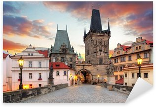 Sticker Pixerstick Prague, vue depuis le pont Charles