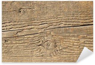 Sticker Pixerstick Près la texture d'une poutre en bois.