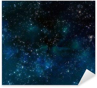Sticker Pixerstick Profonde espace ou ciel étoilé