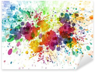 raster version of Abstract colorful splash background Sticker - Pixerstick