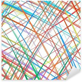 Sticker Pixerstick Rayures Résumé fond de couleur