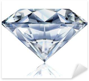 Realistic diamond illustration Sticker - Pixerstick