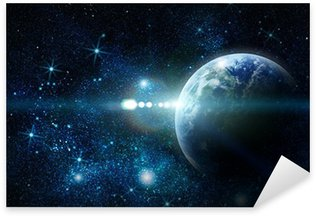 Sticker - Pixerstick realistic planet earth in space