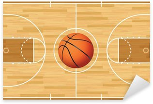 Pixerstick for All Surfaces Realistic Vector Basketball Court and Ball
