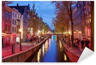 Pixerstick Sticker Red Light District in Amsterdam