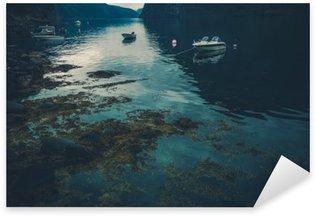 Sticker Pixerstick Reflections norvégienne Fjord