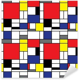 Sticker Pixerstick Répétition Mondrian Contexte