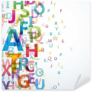 Sticker Pixerstick Résumé couleur Alphabet sur fond blanc # Vector