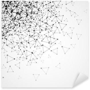 Sticker Pixerstick Résumé de fond avec grille en pointillés et des cellules triangulaires. Vector illustration