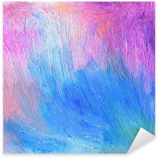 Sticker Pixerstick Résumé de fond texturé acrylique et pastel à l'huile peinte à la main