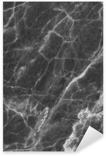 Sticker Pixerstick Résumé marbre noir à motif texture de fond pour la conception.