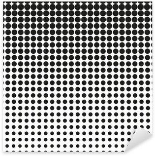Sticker Pixerstick Résumé tramée. Des points noirs sur fond blanc. fond Halftone. Vector points en demi-teinte. tramée sur fond blanc. Contexte de la conception