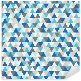 Sticker Pixerstick Résumé triangle vecteur fond, motif géométrique de vacances d'hiver bleu et gris