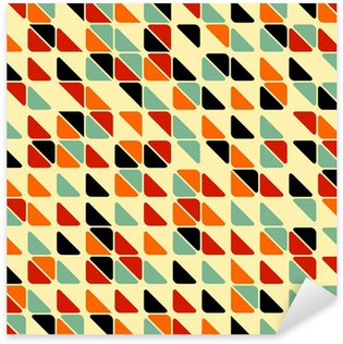 Sticker Pixerstick Retro abstract seamless pattern avec des triangles