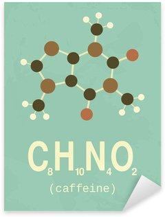 Sticker Pixerstick Rétro affiche de caféine de style