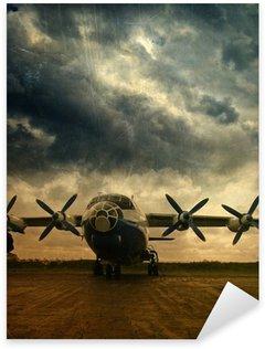 Sticker - Pixerstick Retro aviation, grunge background