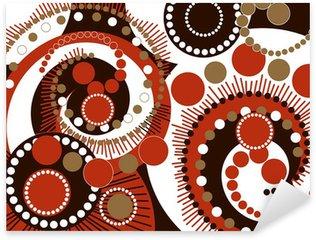 retro brown spiral dots pattern Sticker - Pixerstick
