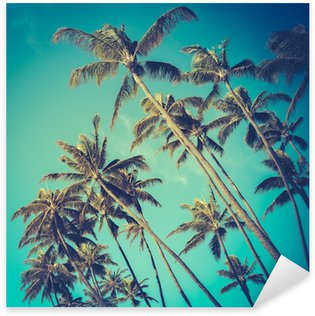 Pixerstick for All Surfaces Retro Diagonal Palm Trees In Hawaii