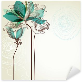 Sticker - Pixerstick Retro floral background