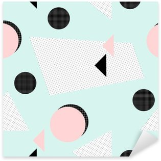 Retro Geometric Pattern Sticker - Pixerstick