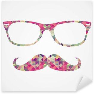 Retro hipster face geometric icons Sticker - Pixerstick