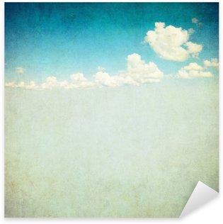 Sticker - Pixerstick retro image of cloudy sky