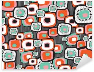 retro lava flower squares Sticker - Pixerstick