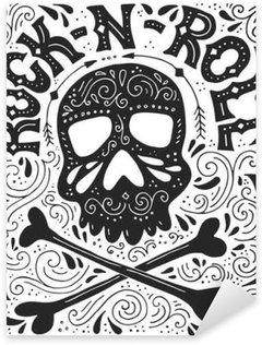 Sticker - Pixerstick Rock-n-roll poster