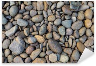 Pixerstick Sticker Rocky strand achtergrond, stenen patroon achtergrond