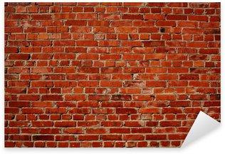 Pixerstick Sticker Rode bakstenen muur