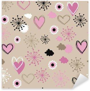 Sticker Pixerstick Romantique seamless floral