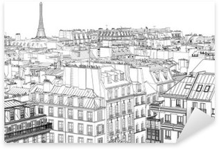 roofs in Paris Sticker - Pixerstick