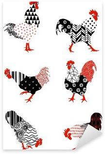 Sticker - Pixerstick rooster