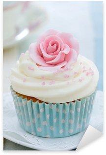 Sticker - Pixerstick Rose cupcake