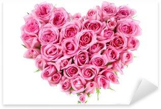 Sticker Pixerstick Rose En Forme Amour