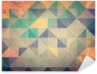 Sticker Pixerstick Rose et violet triangle abstrait illustration