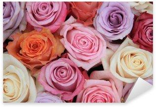 Sticker Pixerstick Rose pastel fleurs de mariage