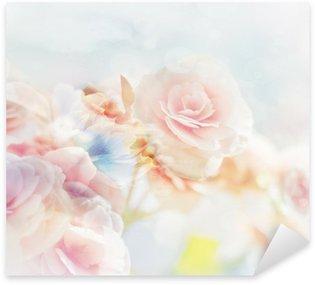 Sticker Pixerstick Roses romantiques dans le style vintage