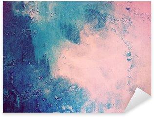 Pixerstick Sticker Roze en blauwe abstracte achtergrond